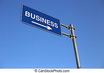 negócio, sinal estrada
