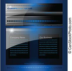 negócio, site web