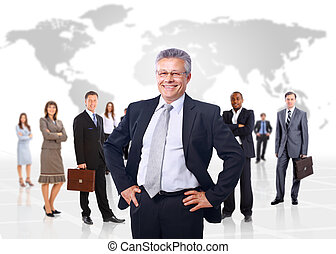 negócio, sobre, backgroun, isolado, homem, equipe, seu, ...