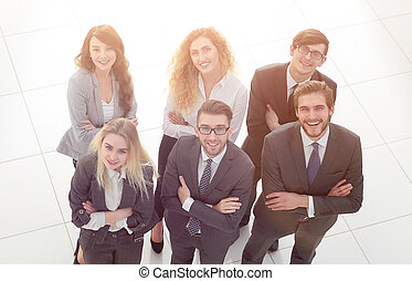 negócio, sobre, fundo, pessoas., grupo, branca