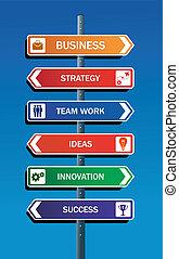 negócio, sucesso, estratégia