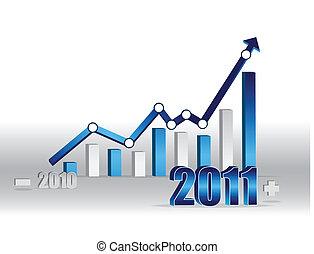 negócio, sucesso, -, gráfico