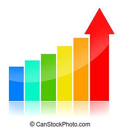 negócio, sucesso, gráficos