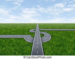 negócio, sucesso, rodovia