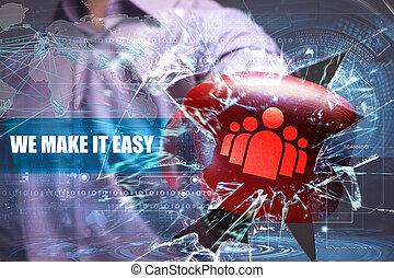 negócio, tecnologia, internet, e, rede, security., nós, fazer, aquilo, fácil