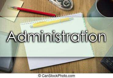 negócio, texto, -, administração, conceito
