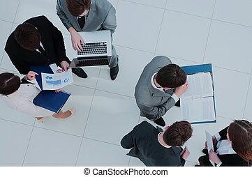 negócio, trabalhando, pessoas., projeto, seu, equipe