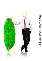 negócio, verde, energia