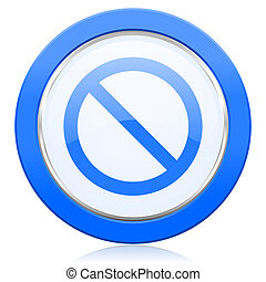 negado, icono, acceso