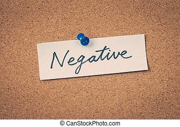 negatív