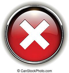 negate, ícone, botão