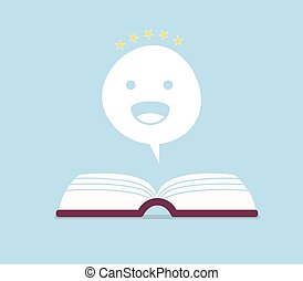 Negative book review vector illustration. Sad, unhappy...