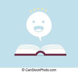 Negative book review vector illustration. Sad, unhappy...