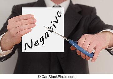 Negative, determined man healing bad emotions
