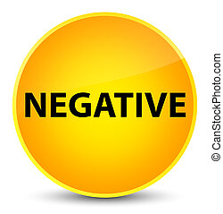 Negative elegant yellow round button