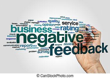 Negative feedback word cloud