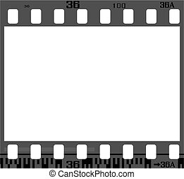 negative film frame - 35mm negative frame, with details and...
