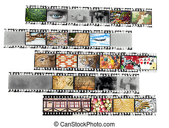 Negative film strip with nice pictures