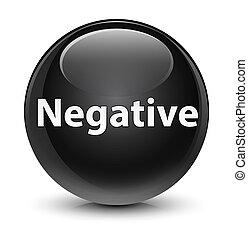 Negative glassy black round button