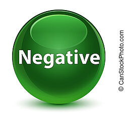 Negative glassy soft green round button