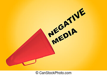 Negative Media concept