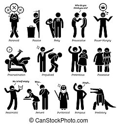 Negative People - Negative personalities traits, attitude,...