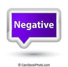 Negative prime purple banner button