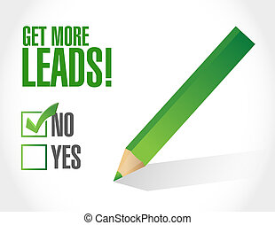 negative to Getting More Leads sign