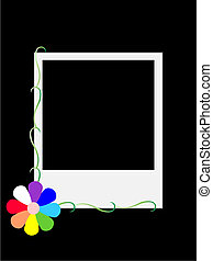 Negative - Stylized vector Polaroid negative framed colored...