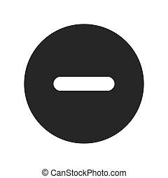 negativo, círculo, sinal, ícone, vetorial, ilustração