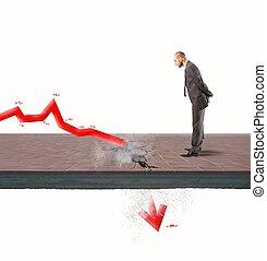 negativo, estatística, devido, crise