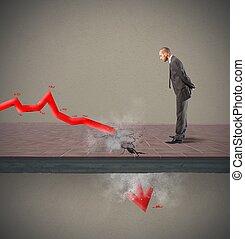negativo, estatística, devido, para, crise