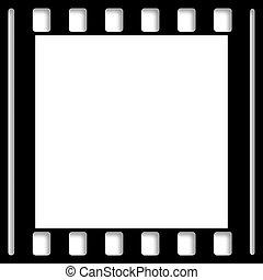 negativo, foto, película, borda