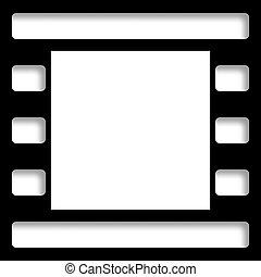 negativo, foto, película, marco