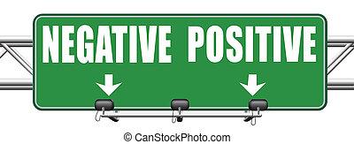negativo, ou, pensar positivo