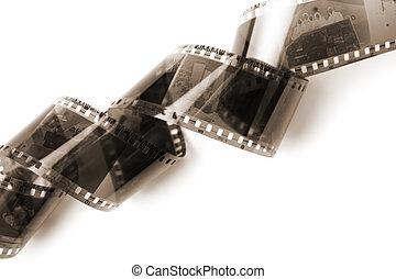 negativo, película, isolado