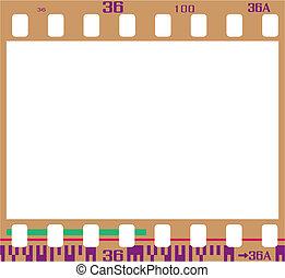negativo, película, quadro