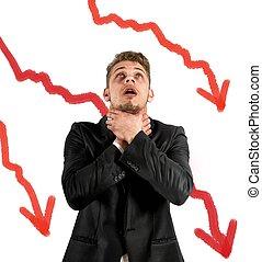 negativo, statistico, dovuto, a, crisi