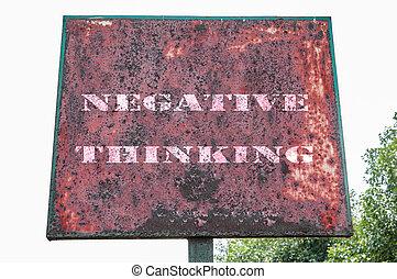 negetive, pensando, mensagem texto