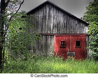 Rustic barn in HDR.