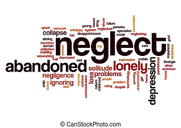 Neglect word cloud concept