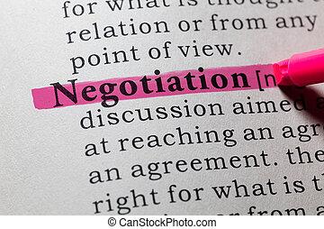 negociación, definición