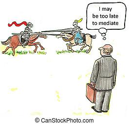 negociación, divorcio, o, contrato