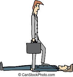 negociación, duro, empresa / negocio, /, hostil