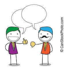 negociación, empresa / negocio