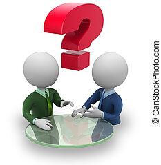 negociación, hombres de negocios
