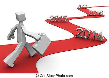 negocio a término brillante, éxito, 2014