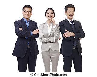 negocio asiático, equipo