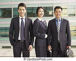 negocio asiático, gente