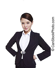 negocio asiático, mujer